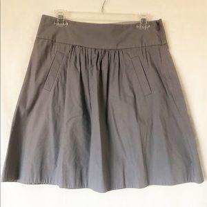 J.Crew Full Gray Short Skirt with Pockets